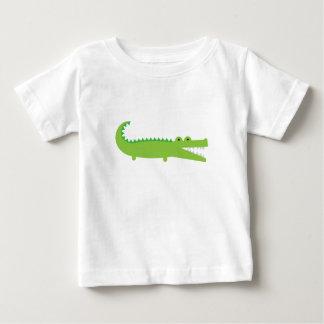 T-shirt Pour Bébé Alligator vert