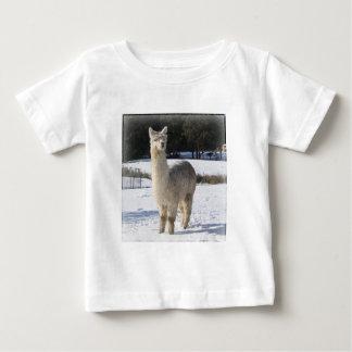 T-shirt Pour Bébé Alpaga dans la neige
