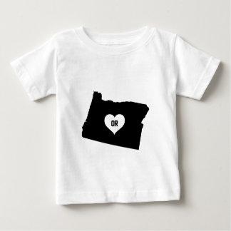 T-shirt Pour Bébé Amour de l'Orégon