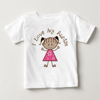 T-shirt Pour Bébé Amour du rose I ma tante Gift