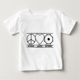 T-shirt Pour Bébé Amour et tambours de paix