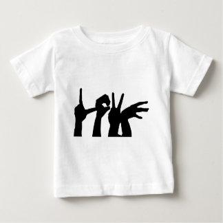 T-shirt Pour Bébé Amour-Main-Silhouette