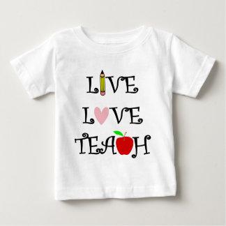 T-shirt Pour Bébé amour vivant teach3