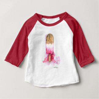 T-shirt Pour Bébé Amusement, chocolat d'été et Popsicle de fraise
