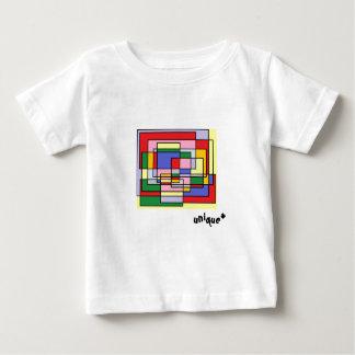 T-shirt Pour Bébé Amusement coloré de rectangle, copie géométrique