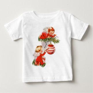 T-shirt Pour Bébé Anges décorant l'arbre de Noël