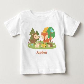 T-shirt Pour Bébé Animal coloré mignon de région boisée pour des