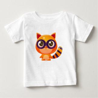 T-shirt Pour Bébé Animal de bébé de raton laveur dans le style doux