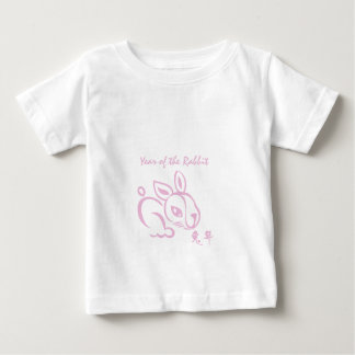 T-shirt Pour Bébé Année rose du lapin - nouvelle année chinoise