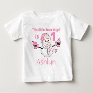 T-shirt Pour Bébé Anniversaire de petits gâteaux de bonhomme de