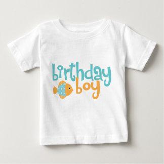 T-shirt Pour Bébé Aqua mignon et garçon orange d'anniversaire de