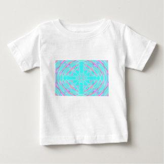 T-shirt Pour Bébé aqua psychédélique