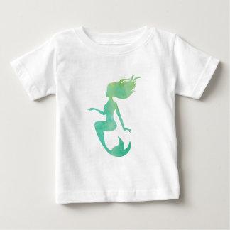 T-shirt Pour Bébé Aquarelle de sirène