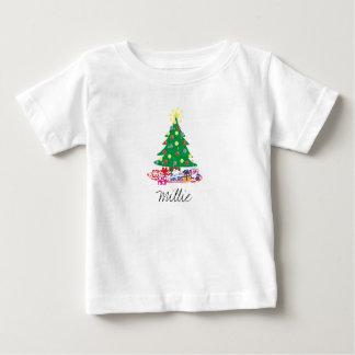 T-shirt Pour Bébé Arbre de Noël fait sur commande