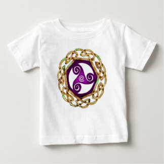 T-shirt Pour Bébé Arbre irlandais de Patricks de saint de Triskelle