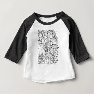 T-shirt Pour Bébé Arbre pluvieux de forêt fantastique