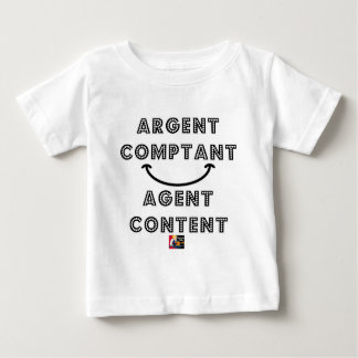 T-shirt Pour Bébé Argent Comptant Agent Content