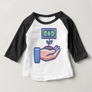 T-shirt Pour Bébé Argent croissant