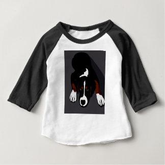 T-shirt Pour Bébé Art de chien noir