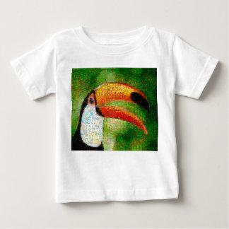 T-shirt Pour Bébé Art de collage-toucan de toucan - art de collage