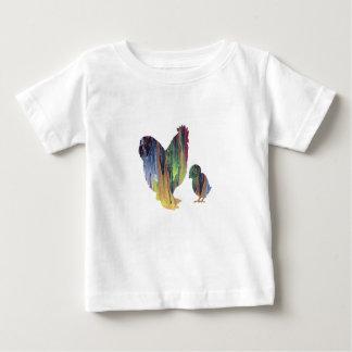 T-shirt Pour Bébé Art de poulet