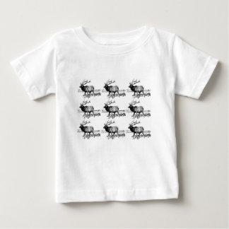 T-shirt Pour Bébé art de troupeau d'élans ouais