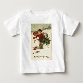 T-shirt Pour Bébé Art vintage de Noël victorien rétro