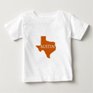T-shirt Pour Bébé Austin orange brûlé le Texas