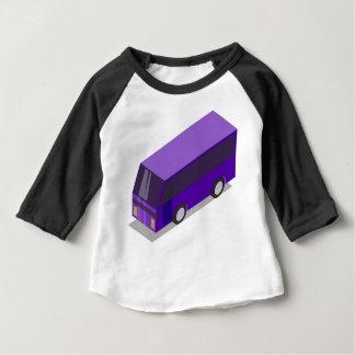 T-shirt Pour Bébé Autobus pourpre
