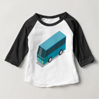 T-shirt Pour Bébé Autobus turquoise