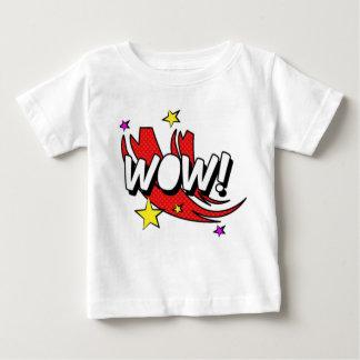 T-shirt Pour Bébé Autocollant comique de wow