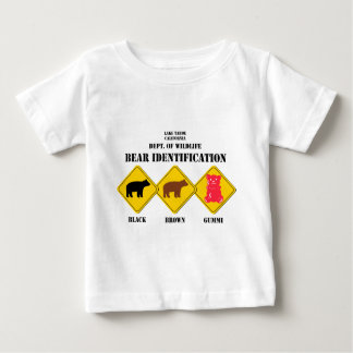 T-shirt Pour Bébé Avertissement d'ours de Gummi - faune de Tahoe
