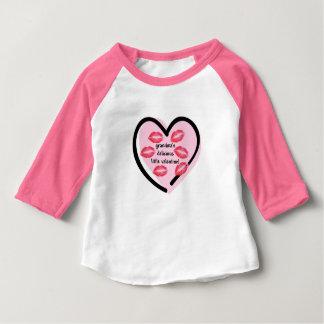 T-shirt Pour Bébé Baisers de Valentine de la grand-maman