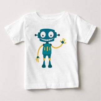 T-shirt Pour Bébé Bande dessinée bleue de robot