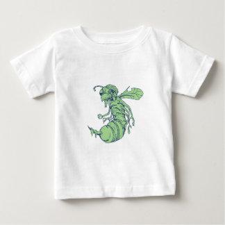 T-shirt Pour Bébé Bande dessinée d'abeille de zombi
