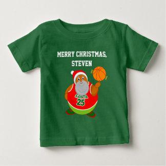 T-shirt Pour Bébé Bande dessinée d'amusement de Père Noël noir