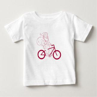 T-shirt Pour Bébé Bande dessinée de côté de bicyclette d'équitation