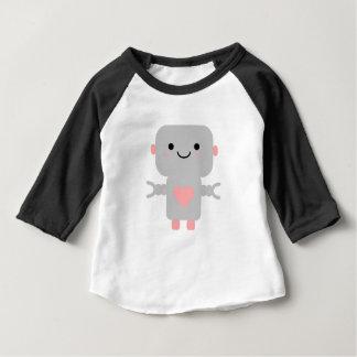T-shirt Pour Bébé Bande dessinée de robot de Kawaii