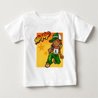 T-shirt Pour Bébé bande dessinée d'orange de vert de fille de