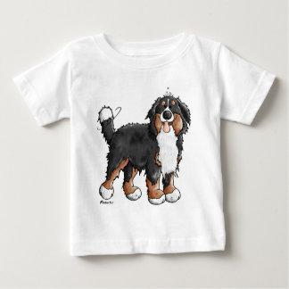 T-shirt Pour Bébé Bande dessinée drôle de chien de montagne de