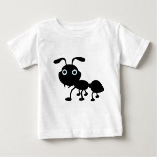 T-shirt Pour Bébé Bande dessinée noire de fourmi