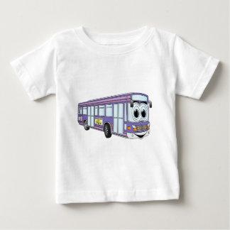T-shirt Pour Bébé Bande dessinée pourpre d'autobus de ville