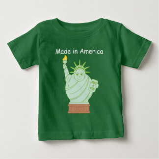 """T-shirt Pour Bébé Bande dessinée """"statue en Amérique"""" d'amusement """"a"""