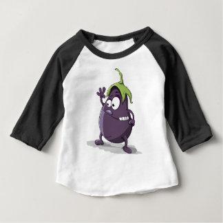 T-shirt Pour Bébé Bande dessinée Toothy observée par légume pourpre