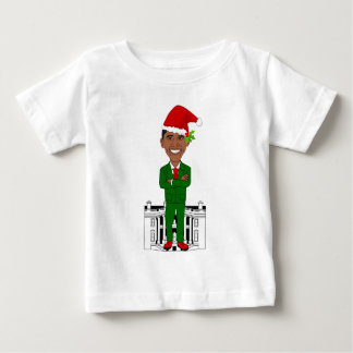 T-shirt Pour Bébé Barack Obama le père noël