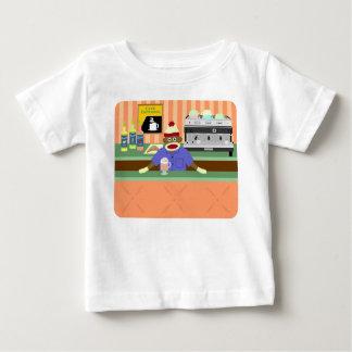 T-shirt Pour Bébé Barman de café-restaurant de singe de chaussette