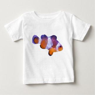 T-shirt Pour Bébé Bas poly poissons de clown