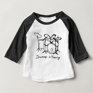 T-shirt Pour Bébé Batteur dans la formation
