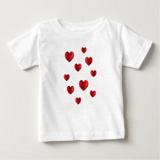 T-shirt Pour Bébé Bébé chaleureux de coeur de coeurs