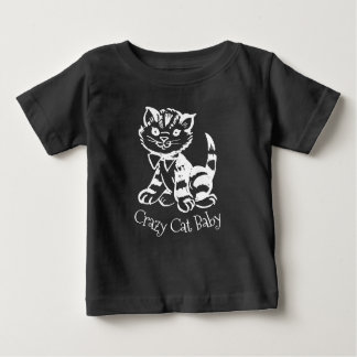 T-shirt Pour Bébé Bébé fou de chat